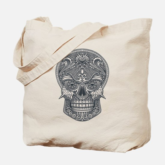 Deadly Love Skull Tote Bag