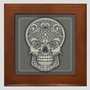 Deadly Love Skull Framed Tile