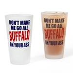 Buffalo Football Drinking Glass
