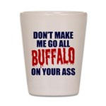 Buffalo Football Shot Glass