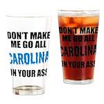 Carolina Football Drinking Glass