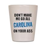 Carolina Football Shot Glass