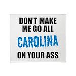 Carolina Football Throw Blanket