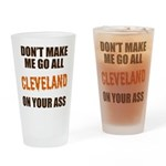 Cleveland Football Drinking Glass