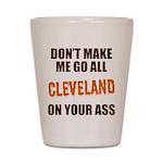 Cleveland Football Shot Glass