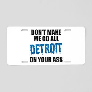 Detroit Football Aluminum License Plate