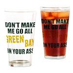 Green Bay Football Drinking Glass