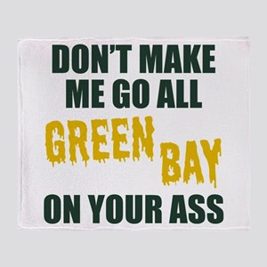 Green Bay Football Throw Blanket