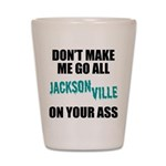 Jacksonville Football Shot Glass