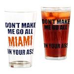 Miami Football Drinking Glass