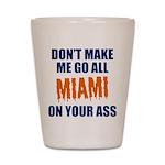 Miami Football Shot Glass