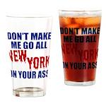 New York Football Drinking Glass