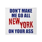New York Football Throw Blanket