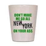 New York Football Shot Glass