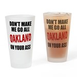 Oakland Football Drinking Glass