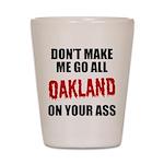 Oakland Football Shot Glass