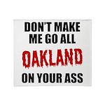 Oakland Football Throw Blanket