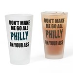 Philadelphia Football Drinking Glass