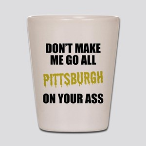 Pittsburgh Football Shot Glass