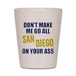 San Diego Football Shot Glass