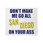 San Diego Football Throw Blanket
