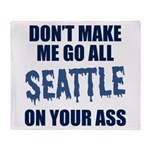 Seattle Football Throw Blanket