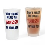 Tennessee Football Drinking Glass