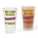Washington Football Drinking Glass