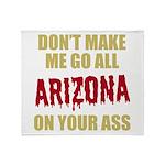 Arizona Baseball Throw Blanket