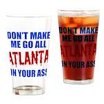 Atlanta Baseball Drinking Glass