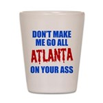 Atlanta Baseball Shot Glass