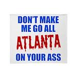 Atlanta Baseball Throw Blanket