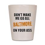 Baltimore Baseball Shot Glass