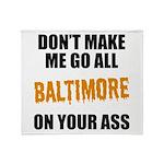Baltimore Baseball Throw Blanket