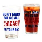 Chicago Baseball Drinking Glass