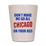 Chicago Baseball Shot Glass