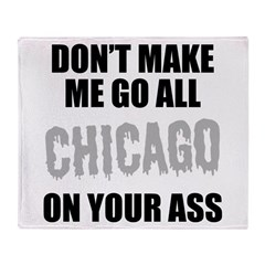Chicago Baseball Throw Blanket