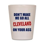 Cleveland Baseball Shot Glass