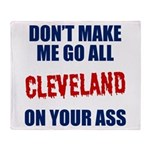 Cleveland Baseball Throw Blanket