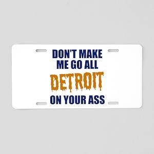 Detroit Baseball Aluminum License Plate