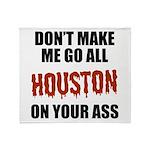 Houston Baseball Throw Blanket