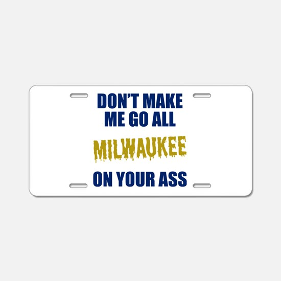 Milwaukee Baseball Aluminum License Plate