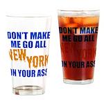 New York Baseball Drinking Glass