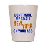 New York Baseball Shot Glass