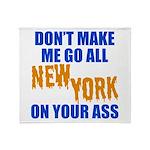 New York Baseball Throw Blanket