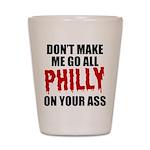 Philadelphia Baseball Shot Glass