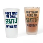 Seattle Baseball Drinking Glass
