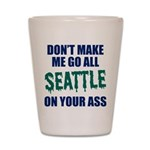 Seattle Baseball Shot Glass