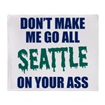 Seattle Baseball Throw Blanket