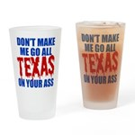 Texas Baseball Drinking Glass